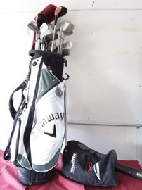 Callaway Golf Bag with Assorted Clubs