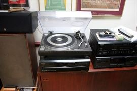 Technics SL-1200MK2 Turntable, Onkyo Equipment