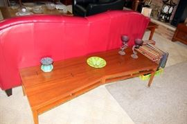 Lane Arts & Crafts Style Coffee Table, Contemporary Art Glass