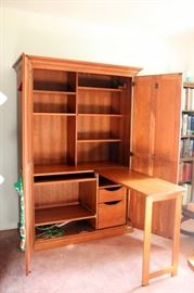 Amish Made Armoire with Drop Down Work Table