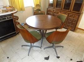 Brody Mid Century Table and 4 Barrel chairs