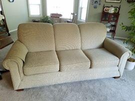 Wonderful Contemporary Neutral Toned Sofa...feels good too!