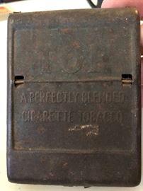 Top cigarette tobacco tin
