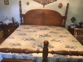 #21summit king size bed frame 4 post  $200.00  #22king mattress set $20.00