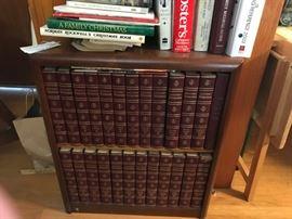 #6bookcase w encyclopedia set  $35.00