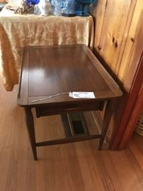 #11Hammary mid century end table w drawer (2) 100 ea. $200.00