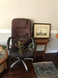#9desk chair brown $35.00