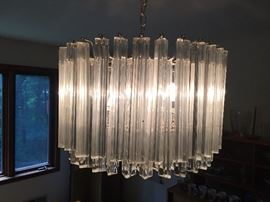 Camer chandelier with prism crystals