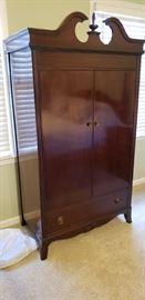 Beautiful double door wardrobe with drawer below, 60 plus years old
