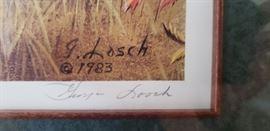 Close-up of artist's signature