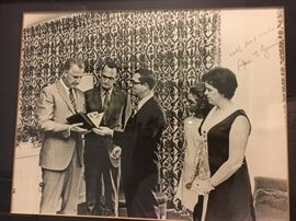 Framed photograph signed Spiro Agnew