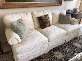 3-cushion rolled arm couch - matched set of 2 available - along with great occasional throw pillows