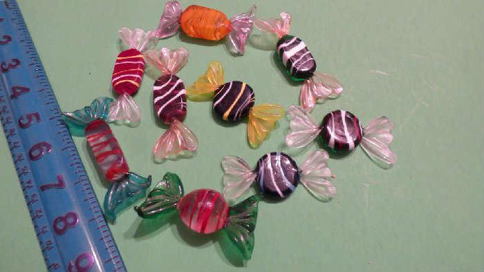 Murano glass candies