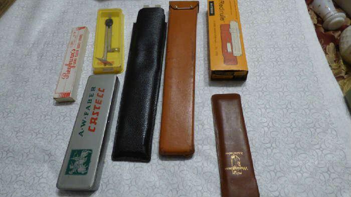 Vintage slide rulers
