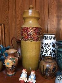 """Rosenthal-Netter MCM Italian Pottery Vase/Urn w/Lid  (17.5""""h) 165"""