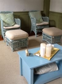 Maine Cottage brand wicker chairs and accent furniture