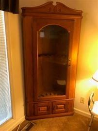 Very nice corner gun cabinet