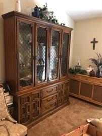 Beautiful 4 door glass doored china cabinet, with large storage below
