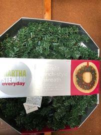 Martha stewart prelit wreath NIB