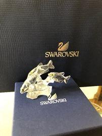 Swarovski silver crystals 3 South Sea Fishes A 7644 NR 057 000 Austria Excellent