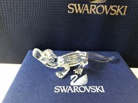 Swarovski Alligator Baby Crystal Figurine Crocodile Animal  Discontinued