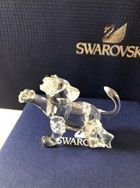 Swarovski crystal tiger cub baby lion animal