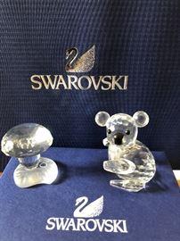 Swarovski mini mushrooms, Swarovski Left facing Koala
