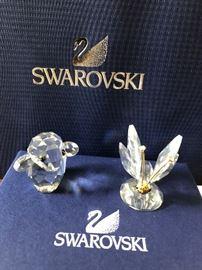 swarovski crystal figurine lamb, Swarovski Butterfly with gold antennae