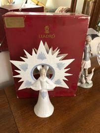 "Lladro 6501 ""Angel of Light"" figurine/ Tree topper NIB"