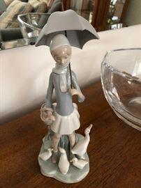 "LLADRO ""Girl With Umbrella and Geese"" #4510"