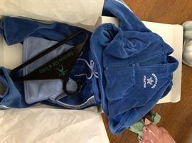 American Girl Athletics blue velour jogging suit