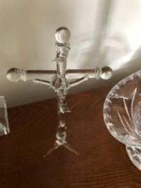 Crystal Jesus on the cross