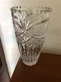 Large cut crystal and glass vases