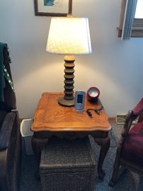 Side tables and lamps