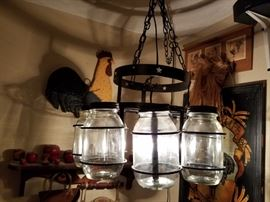 Great antique glass jar light
