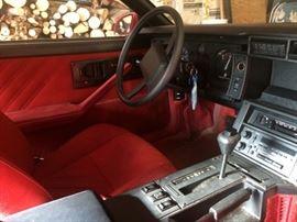 1987 Camaro interior is in good condition