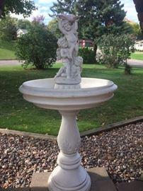 Many yard statues