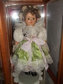 hand made doll 57 years old..exquisite!