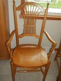custom ordered oak chairs