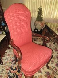 2 arm chairs (area rug not  in sale)