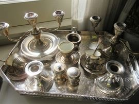 Some of the sterling (tray is plate)