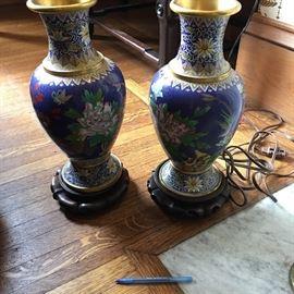Large Cloissone Vases