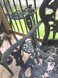 Detail of black metal set