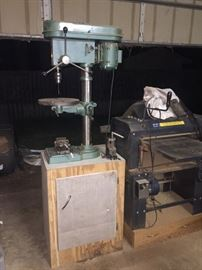 Grizzly HD Drill Press with Cabinet