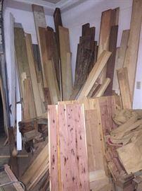 Tons of wood (pear, apple, plum, cedar, etc...)