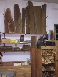 Wood turning tools, exotic wood pieces