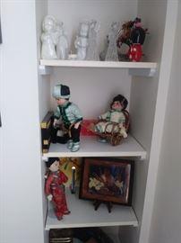 Assorted dolls and knickknacks
