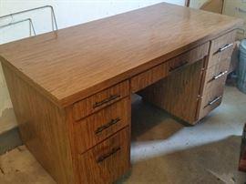 "Formica Desk 50""Wx25""Lx29""H"