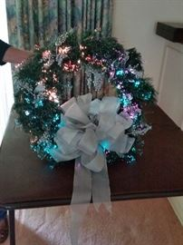 Fiber-Optic Wreath