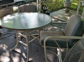 "Patio Table & 2 Chairs (Table 37""Wx29""H)"